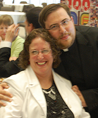 Fr. Guthrie with parent